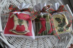 3 płócienne woreczki z lawendą - Boże Narodzenie