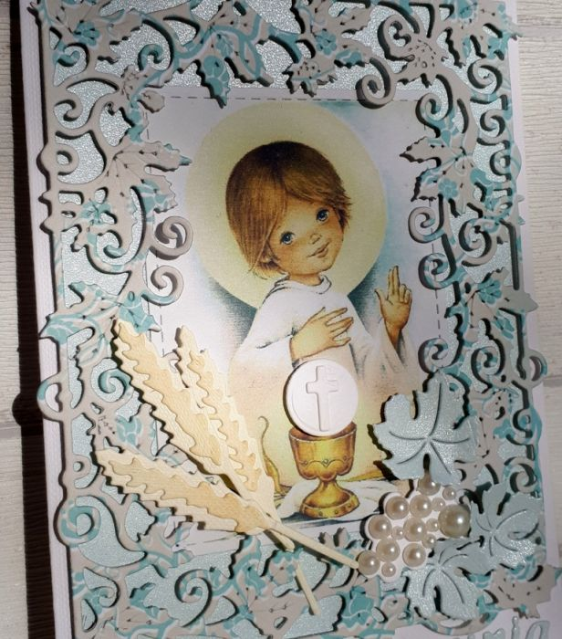 Kartka komunijna dla chłopca #