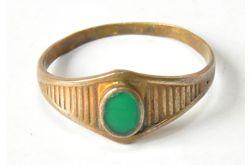 76 stary pierścionek z mosiądzu;