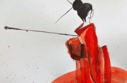 Akwarela ''Japonka'' artystki A.Laube