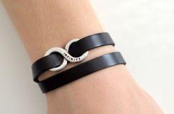 Infinity unisex bransoletka czarna