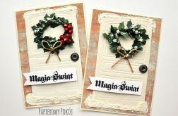 Zestaw kartek Świąteczne drzwi