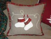 Poduszka dekoracyjna świąteczna buty
