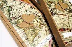 Kartka ślubna dla podróżników-mapa