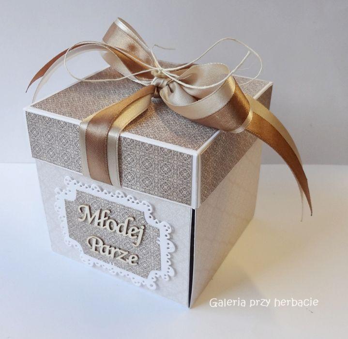 Ogromny Pudełko, kartka na ślub beżowa - Galeria przy herbacie YU77