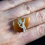 Srebrny pierścionek z kwarcem z rutylem