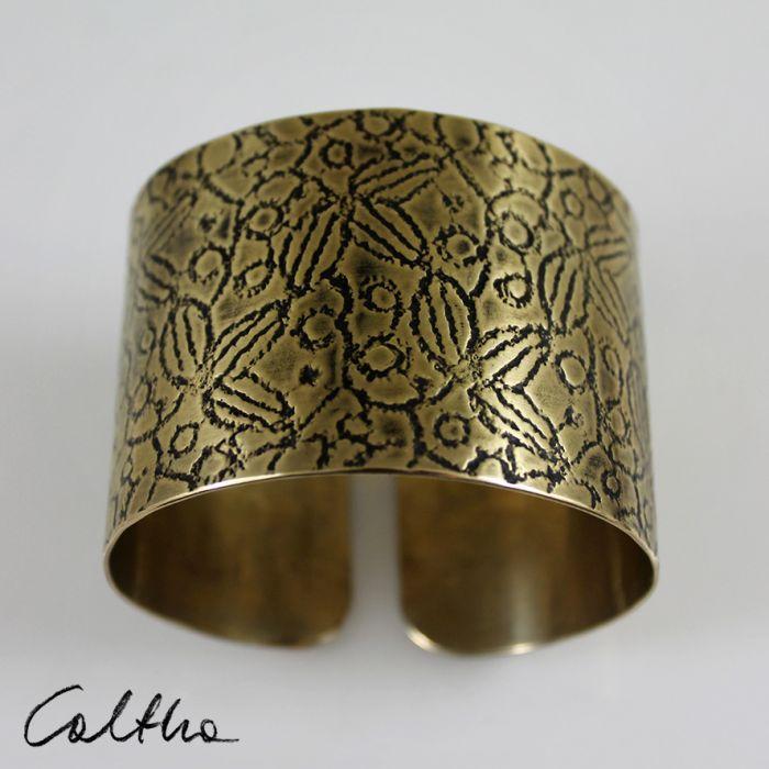 Mosiężna bransoleta - liście 171028-01 - Mosiężna bransoletka