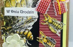 Kartka dla pszczelarza #2 pszczoły miód