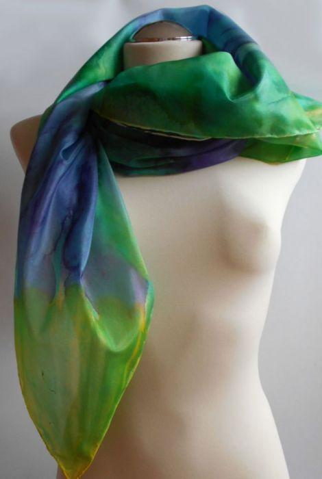 Zielony Silk  Apaszka