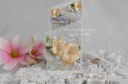 Ślubna kartka kaskadowa w pudełku 07