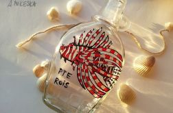ręcznie malowana butelka ze skrzydlicą