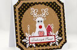 Renifer * Kartka świąteczna KBN1918