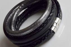 Bransoletka silver - black