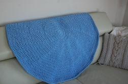 Dywan okrągły - niebieski