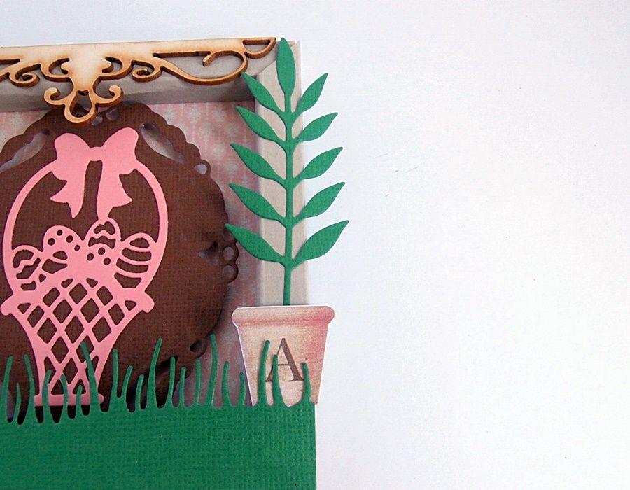 Obrazek - kartka - Donica z palmą