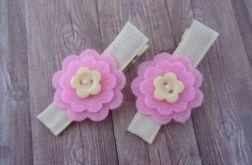 Nomma Spinki do włosów kwiatki różowe