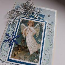 Boże Narodzenie 21, z aniołem, vintage