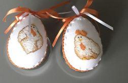 Pisanki haftowane kurki pomarańcz