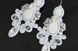 Kolczyki ślubne sutasz Tiffany