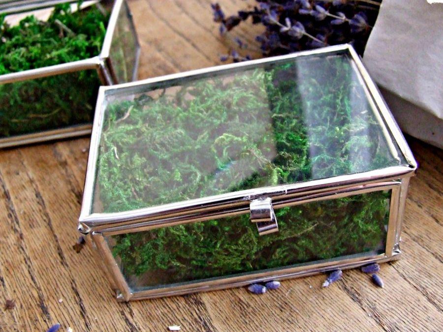 Szklane pudełeczko na obrączki