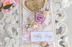 Ślubna kartka DL w pudełku 41