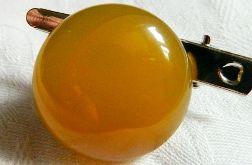 Broszka, przypinka z żółtym agatem