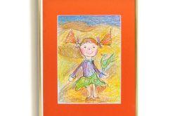 Mała Pippi obrazek do dziecięcego pokoju