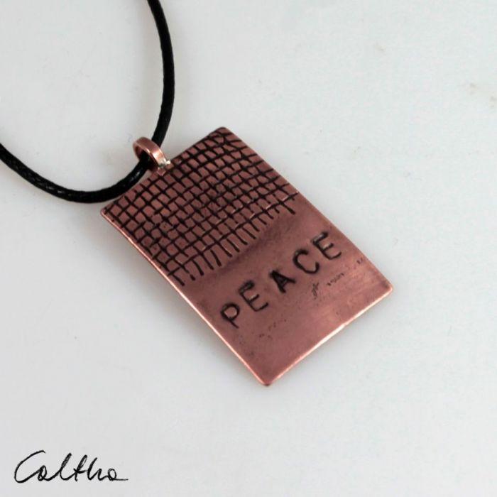 Peace - miedziany wisiorek 201126-03 - Miedziany wisior