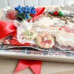 Kartka świąteczna w pudełku VINTAGE #3 - Detal3