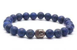 Bransoletka męska lapis lazuli hematyt 02