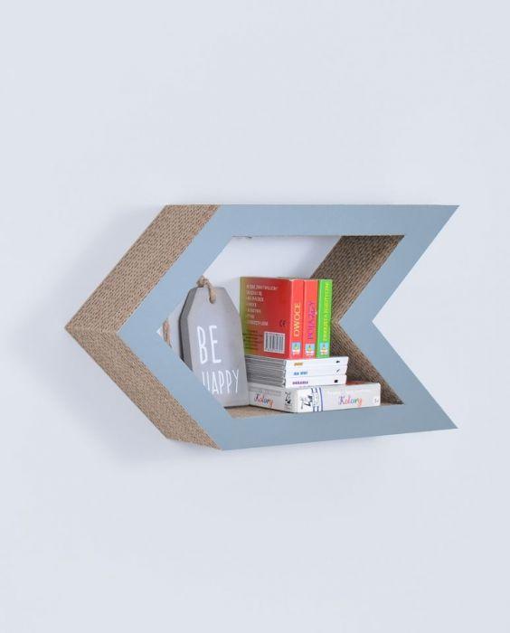 Półka na książki STRZAŁKA | szary