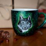Kubek malowany - Srebrny Wilk - null
