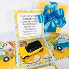 Żółte autko - Box dla chłopca