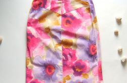 38- spódnica sztruksowa w kwiaty-nr2