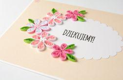 Wyjątkowa kartka podziękowanie, quilling