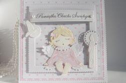 Kartka - Chrzest Św. z aniołkiem