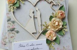 Różany komplet ślubny
