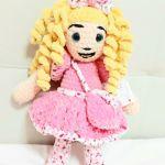 lalka maskotka szydełkowa rękodzieło plusz - Lalka na szydełku