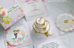 WZÓR Exploding Box Ślubny dla Nowożeńców