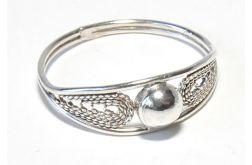 45 pierścionek vintage, srebrny, filigranowy