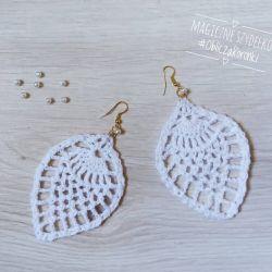 Kolczyki koronkowe białe