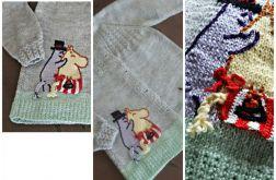 Sweterek Muminki dla dziewczynki na 5-6lat