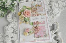 Ślubna kartka A6 w pudełku 06
