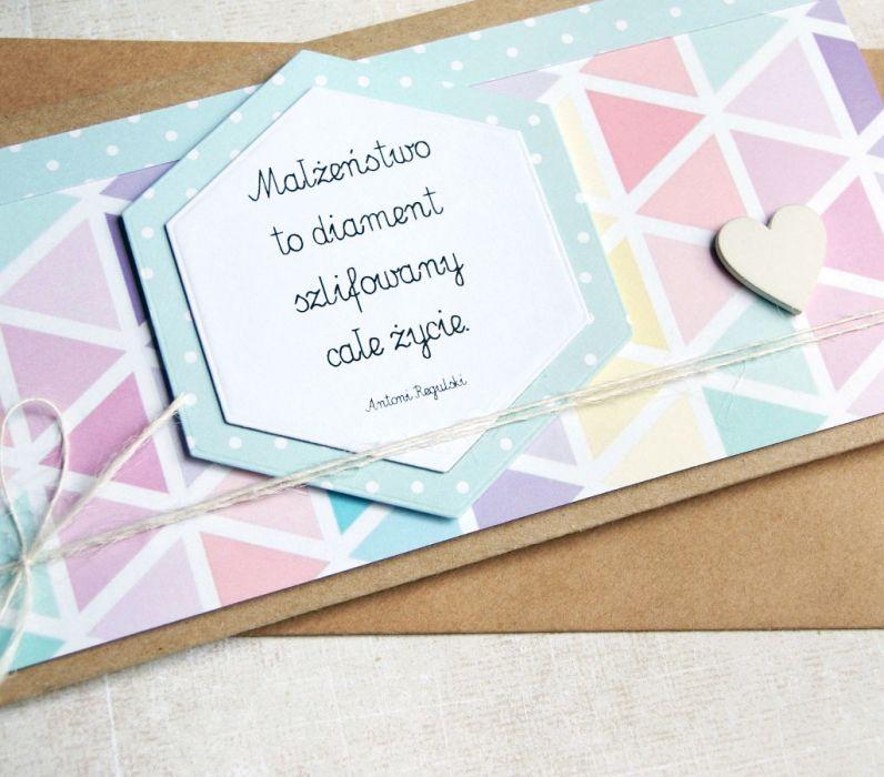 kartka - kopertówka :: geometric pastels