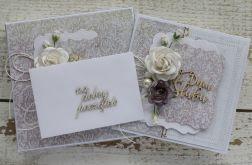 Romantyczna kartka ślubna z pudełkiem 30