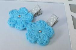 spinki handmade 2 szt. kwiatki szydełkowe1