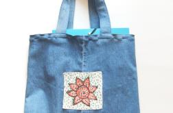 Eko torba dżinowa, torba na zakupy eko nr 2