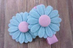Nomma Spinki do włosów kwiatki blue:)
