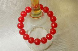 25.Bransoletka ze szklanych koralików 10mm