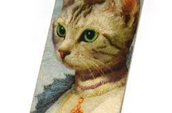 Zakładka - Kot w stylu vintage
